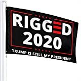 vipsung Rigged 2020 Fraud Trump is Still My President Breeze Fluttered 3x5 Foot Flag Trump Re-Election President The United States MAGA Flags.-Black-One Size