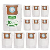 10 Pack Replacement Filter Vacuum Cleaner Bags for Shop-Vac 5-8 Gallon Vacuum Bags Replace Type E, Part 90661, 9066100, 906-61