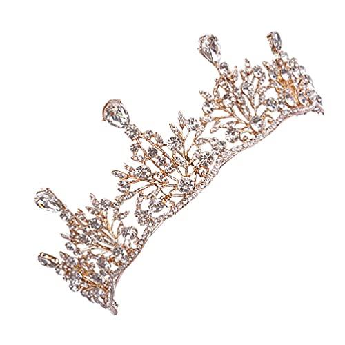 FOMIYES Corona de cristal de la boda Rhinestone reina tiara brillante princesa...