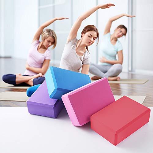 Yoga Block High Density EVA Foam Brick Supportive Latex-Free Soft...