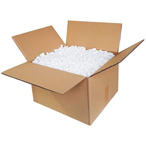 Verpackungschips Maisflips 30L Biologisch Abbaubar | Paket Füllmaterial Gegen Glasbruch | Chips Verpackung | Natürliche Bio Mais Flips | Im Karton | Kein Plastik oder Styropor | Rein natürlich