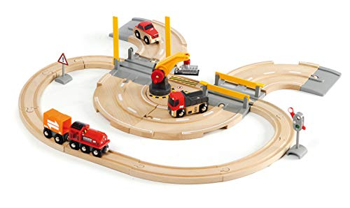 BRIO 63320800 Bahn 33208 - Straßen und Schienen Kran Set