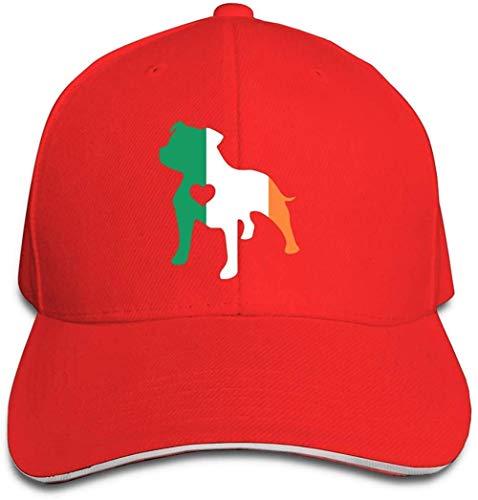 ZYZYY Berretto da baseball unisex Love Dog bandiera irlandese Snapback Cappello regolabile con visiera
