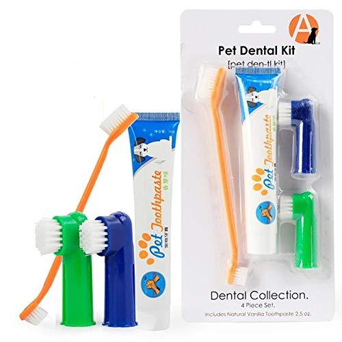 RIsxffp Mascota Perro Gato Vainilla/Pasta de Dientes Cepillo de Dientes Higiene bucal Herramienta de Cuidado de la Salud Vanilla Flavor