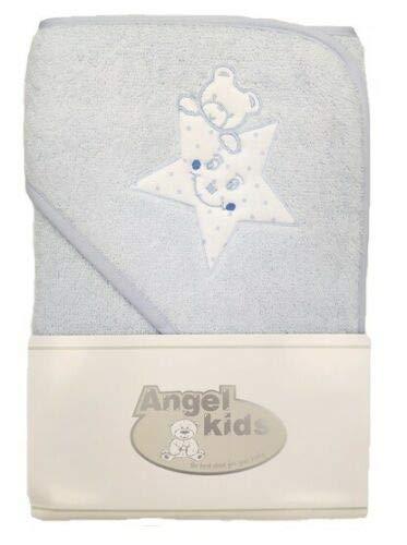 Angel Kids - Toalla con capucha (70 x 70 cm), diseño de oso