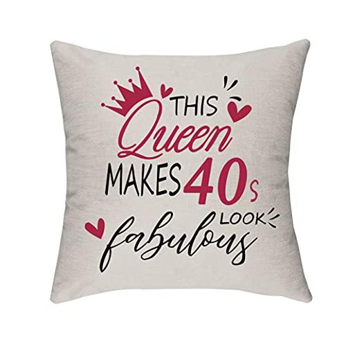 Morges Esta reina hace que los años 40 luzca fabulosa funda de almohada, regalos de cumpleaños para mujeres de 40 a 49 años, hogar, sofá, cama, decoración, funda de cojín, esposa, dama