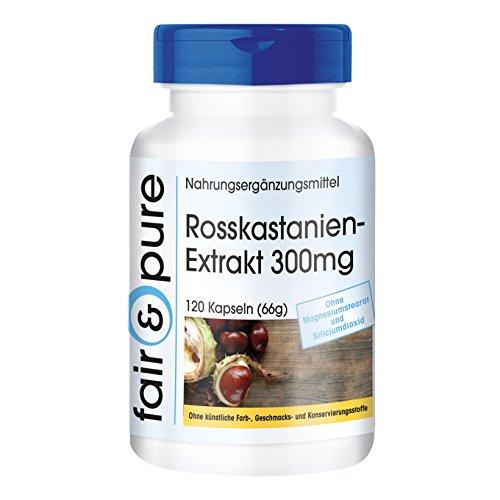 Rosskastanien-Extrakt 300mg - 20% Aescin - vegan - 120 Kapseln