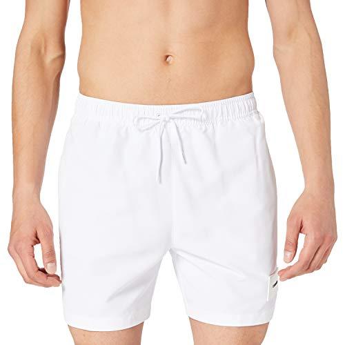 Calvin Klein Medium Drawstring Costume a Pantaloncino, Pvh Classic Bianco, M Uomo