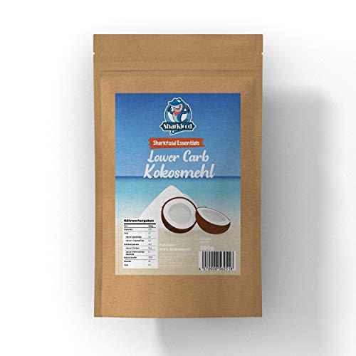 Kokosmehl Low Carb 500 g - Sharkfood lower carb Kokos Mehl - glutenfrei, vegan, kohlenhydratarm - zum Kochen & Backen