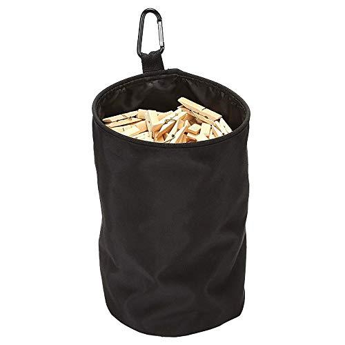 Skitic Wäscheklammerbeutel Premium Klammerbeutel mit Karabinerhaken Korb für Wäscheklammern Ideal für Bad Balkon Oder Hauswirtschaftsraum