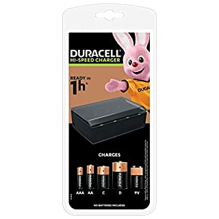 Duracell Battery Charger - Charges in 1 Hour, for AA, AAA, C, D and 9 V Batteries (B001GXVZFY) | Amazon price tracker / tracking, Amazon price history charts, Amazon price watches, Amazon price drop alerts