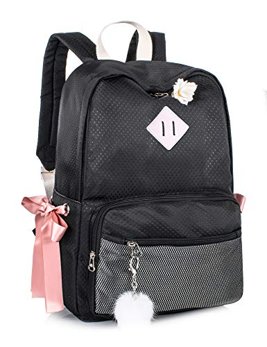 Leaper Backpack for Women Cute Small Backpack Purse Lightweight Daypack Black