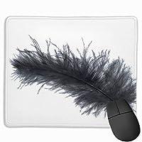 マウスパッド オフィス最適 黒い羽 ゲーミング 防水性 耐久性 滑り止め 多機能 標準サイズ25cm×30cm
