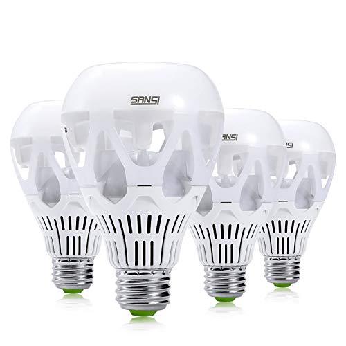 SANSI 18W E27 LED Lampe, ersetzt 150W Glühbirne, 2000lm 5000K Kaltweiß LED Lampen, nicht dimmbar Birne für Garage Lager Küche Büro Wohnzimmer, 4er-Pack