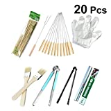 DOITOOL 20 Pcs BBQ Tools Easy Clean Portable Premium Barbecue Grill Utensils Set Kitchen Kit BBQ Tools for...