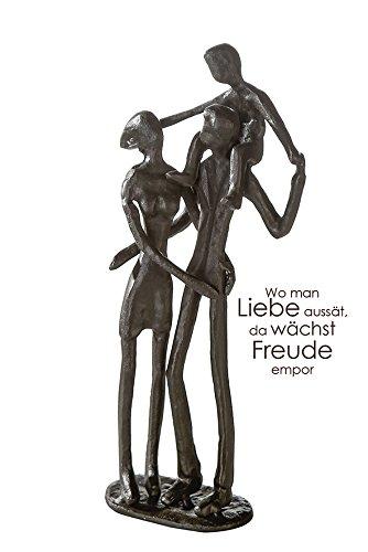 Casablanca Design Sculpture Parents brunie H 19 cm Lot de 2 B 8 cm T.5 cm en Fer