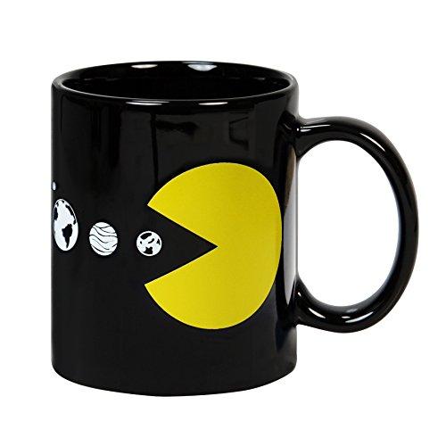Taza mug desayuno de cerámica negra 32 cl. Modelo Sistema Solar