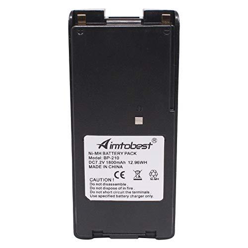 BP-210 BP-210N 1800mAh Ni-MH Battery Compatible for ICOM IC-A6 IC-A24 IC-V8 IC-V82 IC-U82 IC-F3GS IC-F4GS IC-F30GT IC-F40GT IC-F11 IC-F12 IC-F21 IC-F22 BP-209N BP210 BP210N