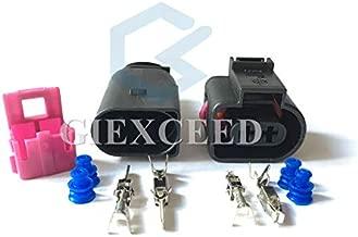 5 Sets 2 Pin 1J0973722 1717692-1 8D0973822 3.5mm Female Male Automotive Temp Sensor Connector Electric Horn Socket Plug for VW Audi