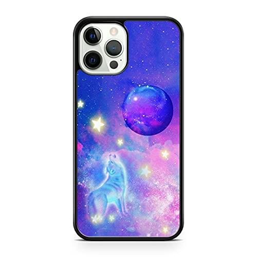 Custodia per cellulare con motivo lupo spaziale e stellato, motivo stellato, motivo: Apple iPhone 6 Plus