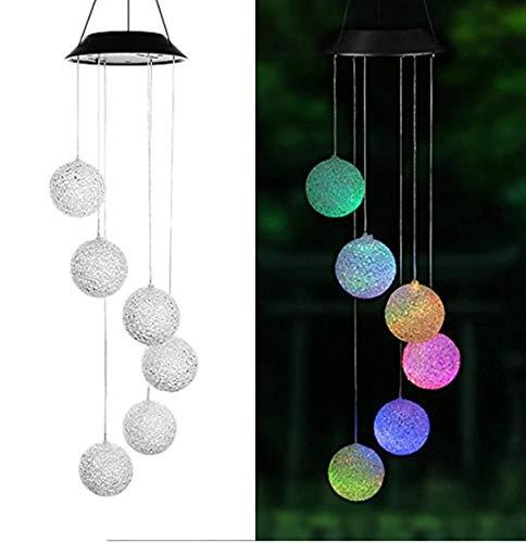 SoulSpaze Lighting Dream Catcher - Campanilla de Viento con luz LED para Colgar (Funciona con energía Solar)