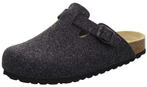 AFS-Schuhe Herren Hausschuhe geschlossen aus Filz, Bequeme, warme Winter Clogs, Made in Germany, 36900 (46 EU, anthrazit)