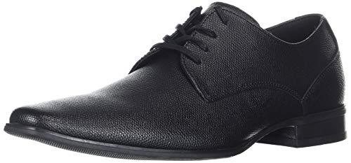Calvin Klein Men's Brodie Oxford Shoe, Black Small Tumbled Leather, 7.5 M US