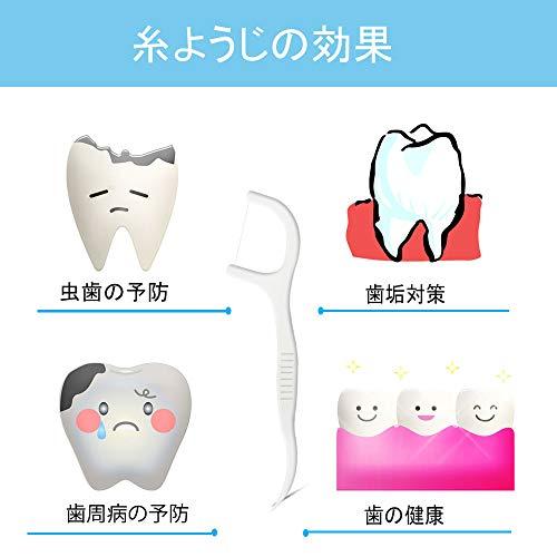糸ようじ60本デンタルフロス細いいとようじ狭い入りやすいフロス歯間強い携帯用しかんフロス歯科用業務用歯石除去