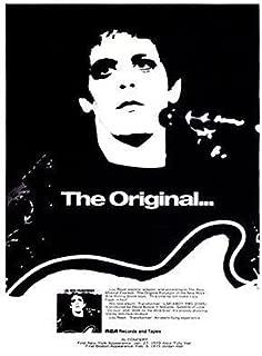 Lou Reed - Transformer - 1972 - Album Release Promo Poster The Original.