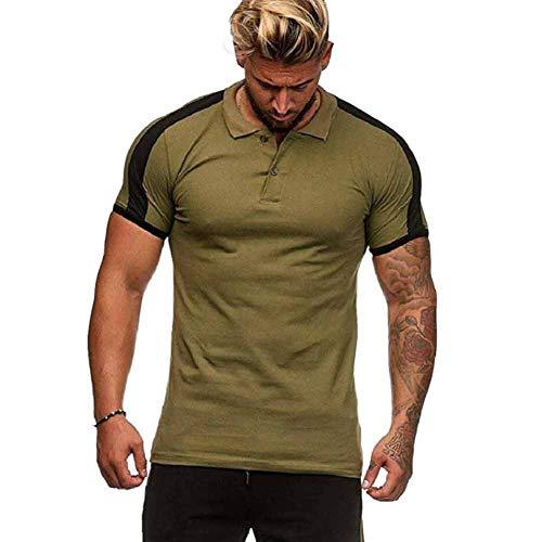 Heren Polo Shirt korte mouw Zomer Tops Basic Katoen Tee Casual T-Shirts M-XXXL