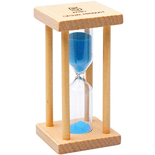 reloj de arena 5 minutos de madera Decoración, Temporizador transparente Reloj de navidad decoracion cumpleaños de vidrio,Inicio,Escritorio,Oficina,Colorear