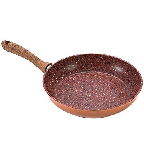 Venteo Copper Stone Pan – Poêle revêtement Granit Haute Technologie Antiadhésive et Anti-Rayures avec Effet Cuivre – Fond INOX Compatible Tous Feux (28 cm)