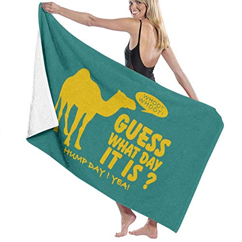 huili Guess What Day It is Hump Day Microfiber Toallas de baño Quick Dry Super Absorbent Towel for Yoga