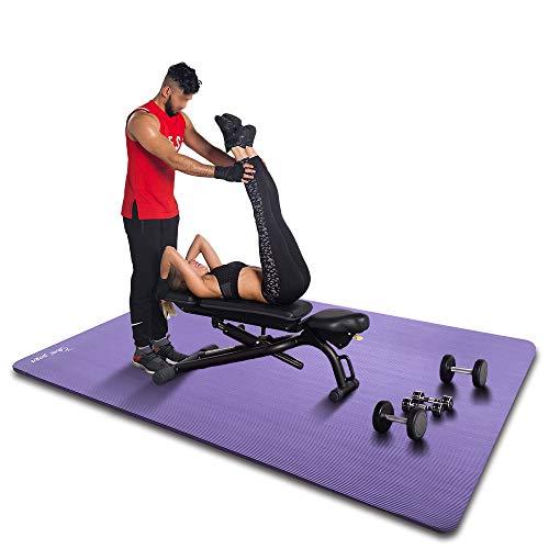 YUREN Tappetino da Yoga 200 x 135 cm 20mm Extra Spessore Largo NBR Antiscivolo per Pilates Tappeto Ginnastica Fitness Aerobica Allenamento