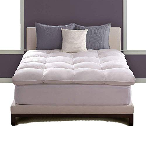 Pacific Coast Hotel Deluxe Luxe Loft Baffle Box King Size Feather Bed with Soft Cotton and Zippered Closure Protector - 5 Star Hotel Luxury Comfort and Restful Sleep at Your Own Home!