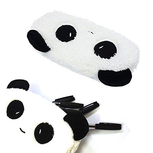 GTONEE Cute Cartoon Panda Soft Plush Stationery Pencil/Pen Bag Pouch, Pen Pencil Pouch Case, Zipper Coin Hand Purse Wallet, Cosmetic Bag, Mini Storage bag