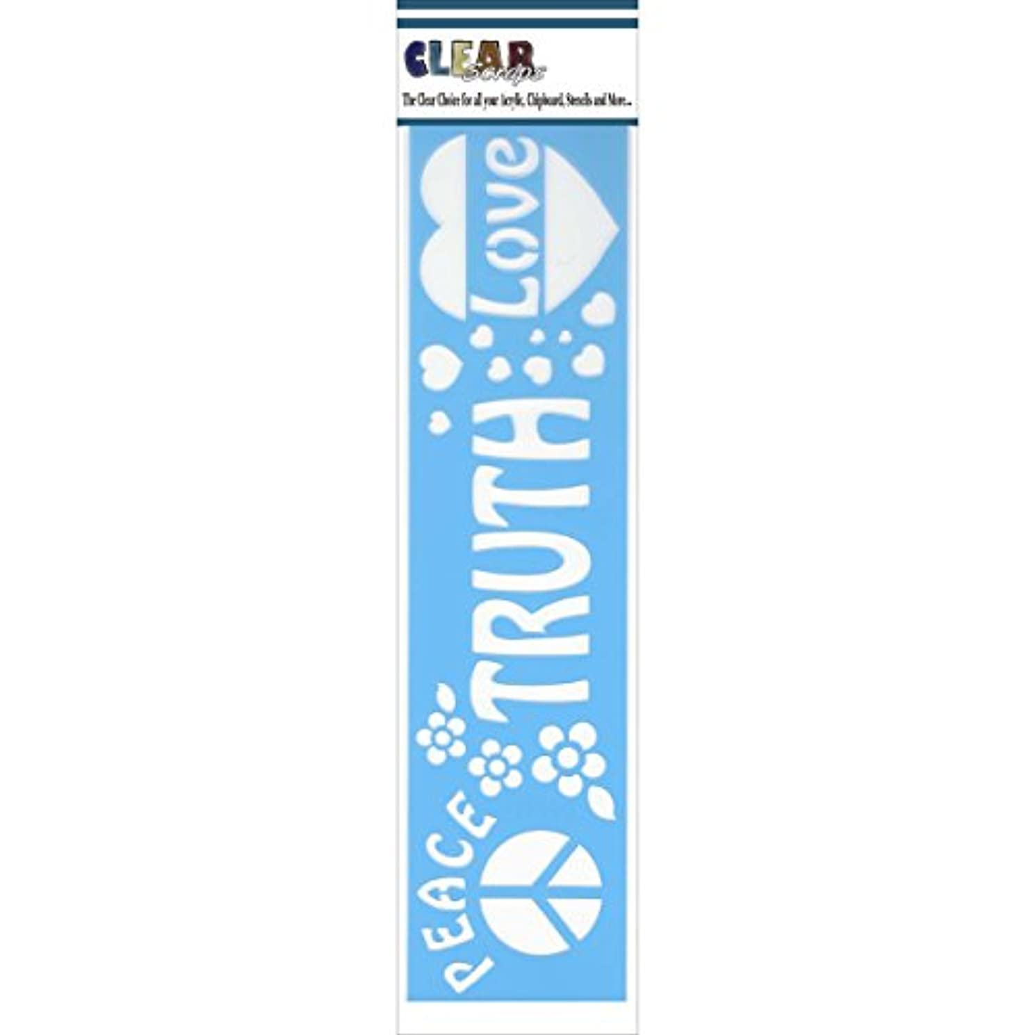 CLEARSNAP Clear Scraps Border Stencils, 3 x 12, Truth and Peace