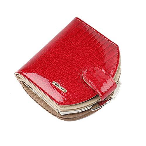 AIFBB Monedero de la mujer mini billetera de cuero para mujer con...