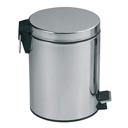 MSV 100440 Poubelle INOX Miroir 20 litres, Polypropylène, 33 cm