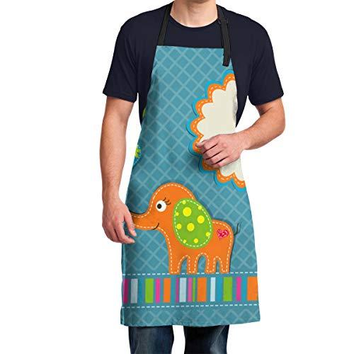 Hangdachang Vorlage Grußkarte Verstellbare Küchenchef Schürze Extra Lange Krawatten, 28,3 x 34,6, Männer und Frauen Schürze zum Kochen, Backen, Basteln, Gartenarbeit, Grillen