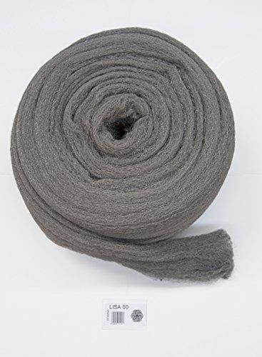 BARLESA BOBINA DE LANA ACERO DE 2,5 KG, Pulir, limpiar, cristalizar, decapar (Lisa, 00)