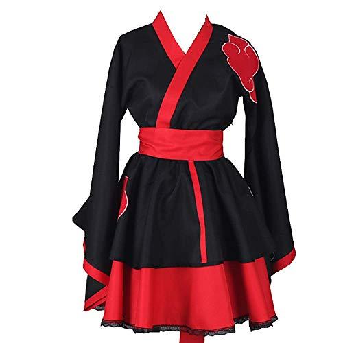 Charous Disfraz de anime Naruto Cosplay Disfraz de Halloween Lolita Kimono Vestido para mujeres y hombres Colección completa