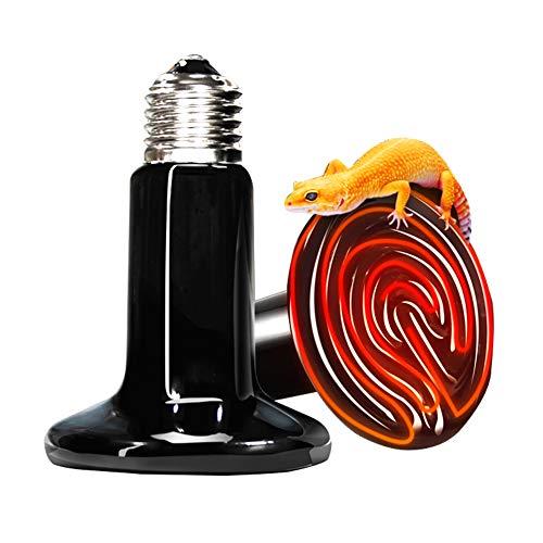 Price comparison product image 110V 2 Pack Ceramic Infrared Heat Lamp Emitter Brooder Coop Bulb Light (Black