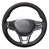 NsbsXs Für Honda Accord 10 2018 2019 Inspire 2018 2019 Insight 2018 2019 Schwarz PU Handgenähte Autolenkradabdeckung