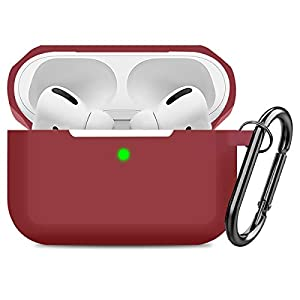 AirPods pro case: Compatible with apple airpod pro 2019 Protect airpods pro prevent bumps and scratches Easy installation, free Carabiner, Visible Front LED Made from high quality elastic silicone, smooth surface, dustproof Package include: Airpods p...