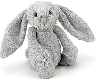 Jellycat Silver Bashful Bunny Medium Soft Toy by Jelly Cat