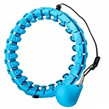 skayddb Weighted Smart Hoola Hoop, Smart 24 Sections Detachable Hoola Hoop, Suitable for Adults and Children