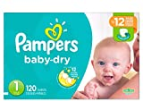 Pampers Baby Dry Size 1 Diapers Super Pack - 120 Count