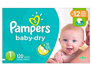 Diapers Size 1 4.6 kg - Pampers Baby Dry Disposable Baby Diapers, 120 Count, Super Pack (Packaging May Vary) (B00FMWX3O6) | Amazon price tracker / tracking, Amazon price history charts, Amazon price watches, Amazon price drop alerts