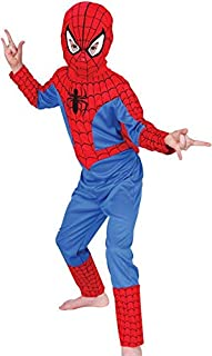 Boys Spiderman 3 Piece Costume Red And Blue Age 7-8 Years Kids Super Hero Dress